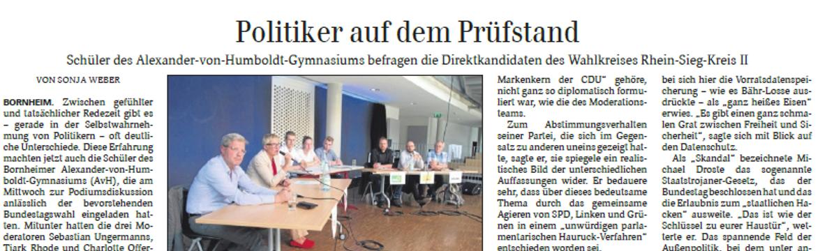 Spannende Diskussion in Bornheim