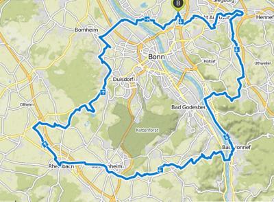 Am 10. September 2017: 104 km mit dem Fahrrad durch den Wahlkreis 98.
