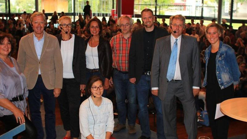 07.09.2017: Podiumsdiskussion am CJD Königswinter. Foto/Quelle: CJD
