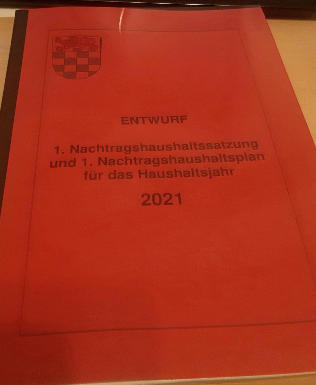 Nachtragshaushalt 2021 steht zur Debatte