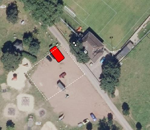 Bau eines Regenklärbeckens am Parkplatz an der Sieg in Meindorf