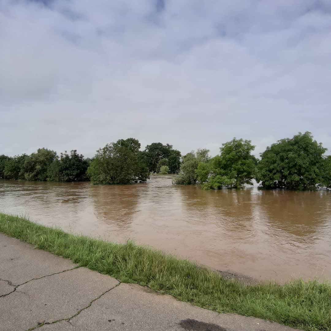 Sieg-Hochwasser als Folge des Unwetters
