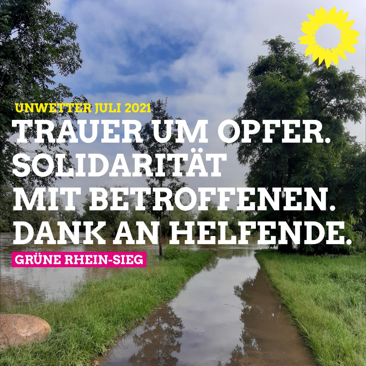GRÜNE Rhein-Sieg zu Unwetter Juli 2021